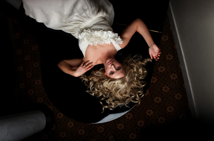 Little Rock bride photography at The Capital Hotel