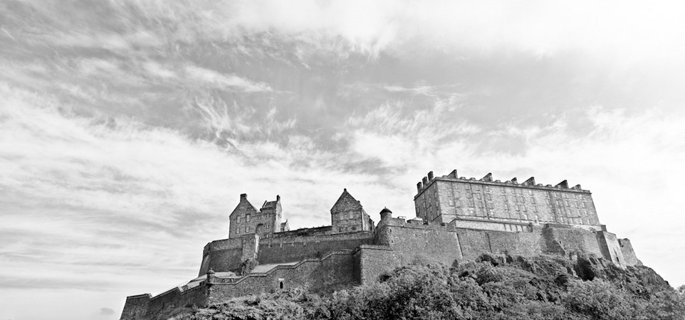 Edinburgh Scotland Castle Panoramic