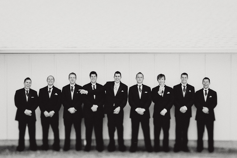 groomsmen pictures with tilt shift lens