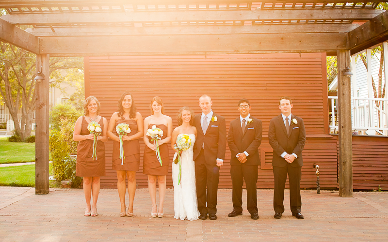 wedding party pictures at chestnut square