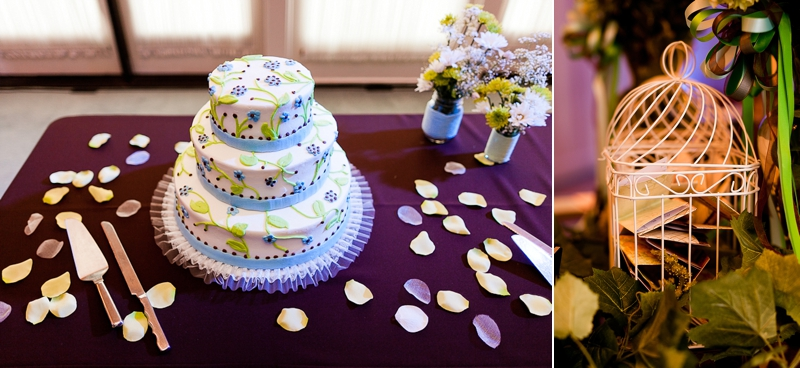 wedding cake at Heard Craig hall