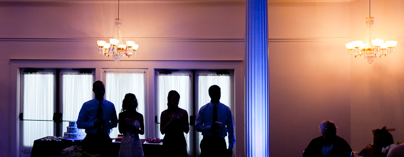 wedding reception at Heard-Craig Hall