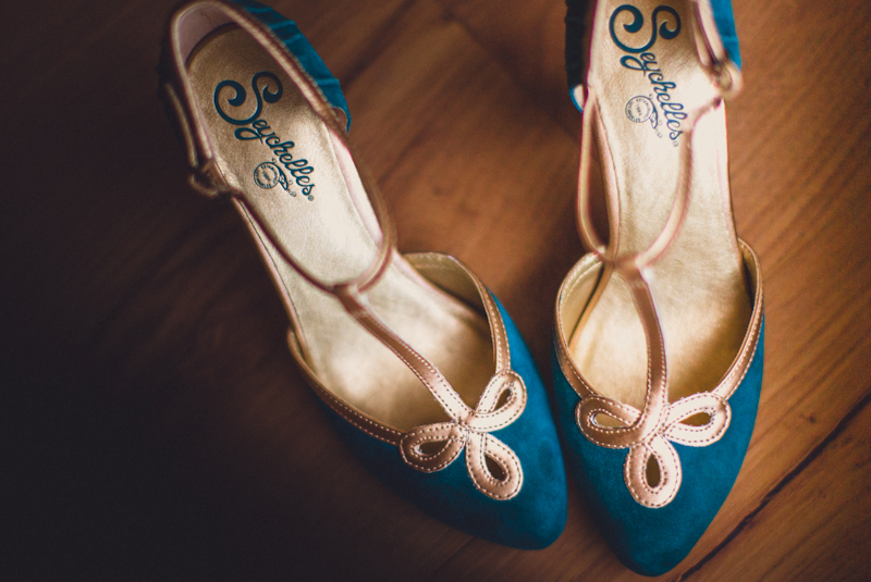 Colorful wedding pumps