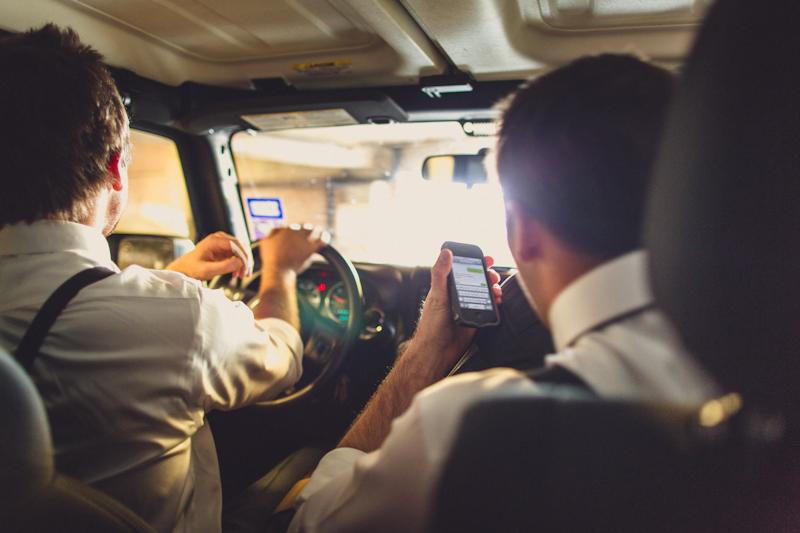 Pittman brother driving to wedding