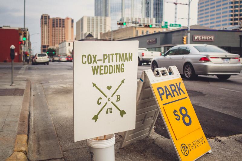 Cox-Pittman wedding in Austin parking garage