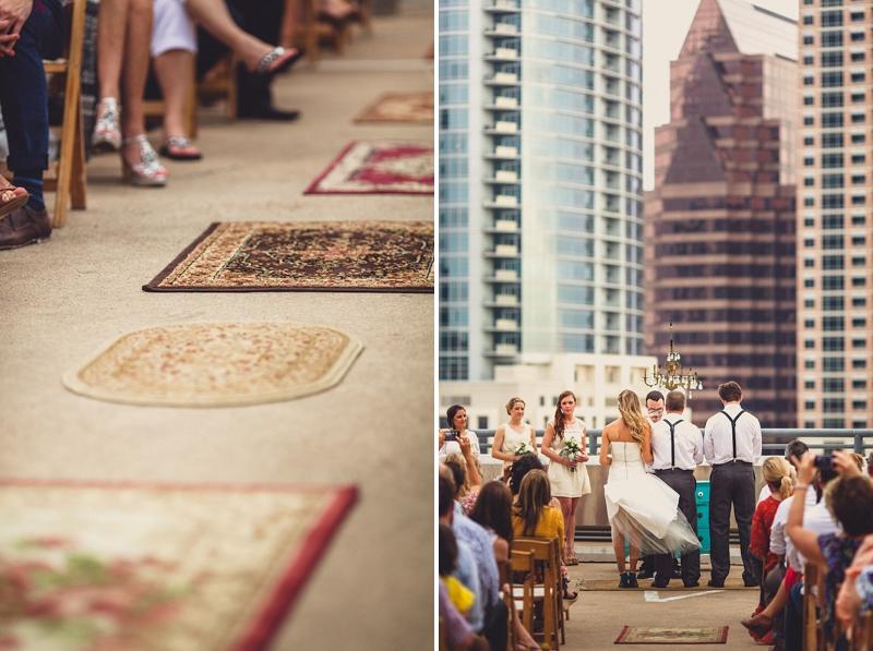 Downtown Austin wedding on parking deck