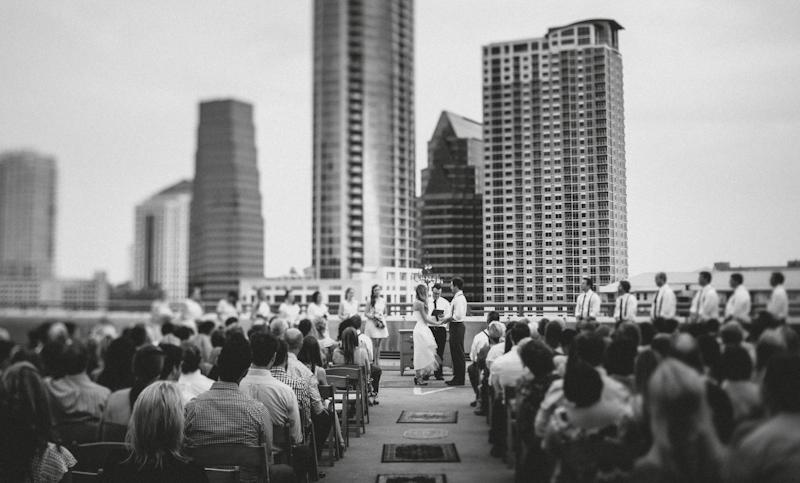 Downtown Austin wedding on parking garage