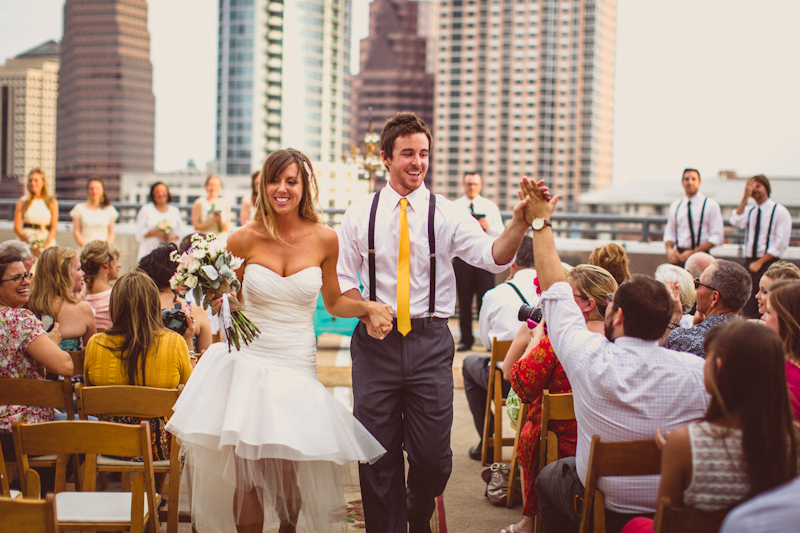 Austin parking garage wedding