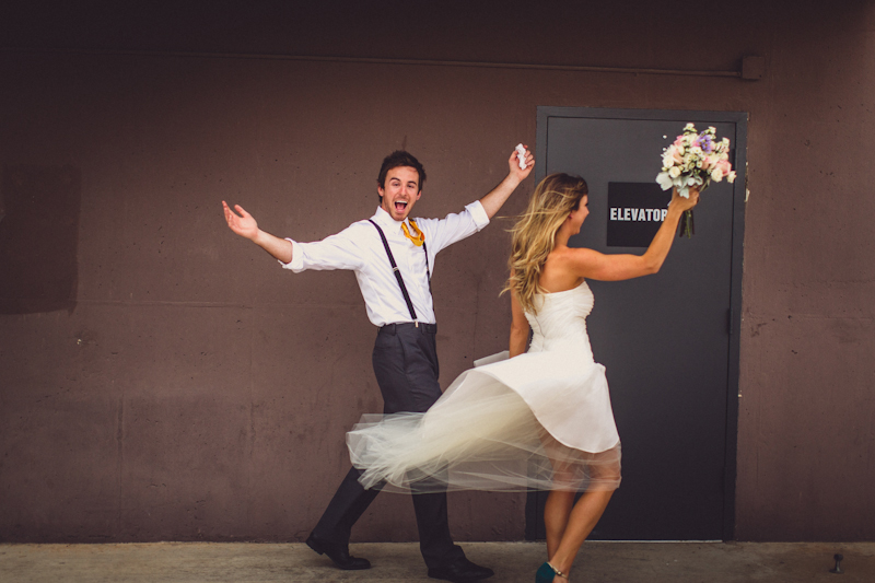 Pittman wedding on downtown Austin parking garage