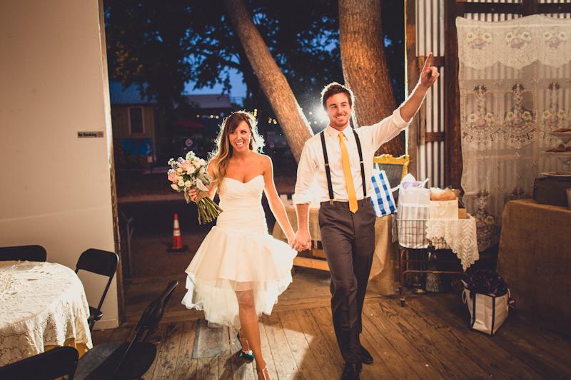 Entrance at Pine Street Station Austin wedding reception