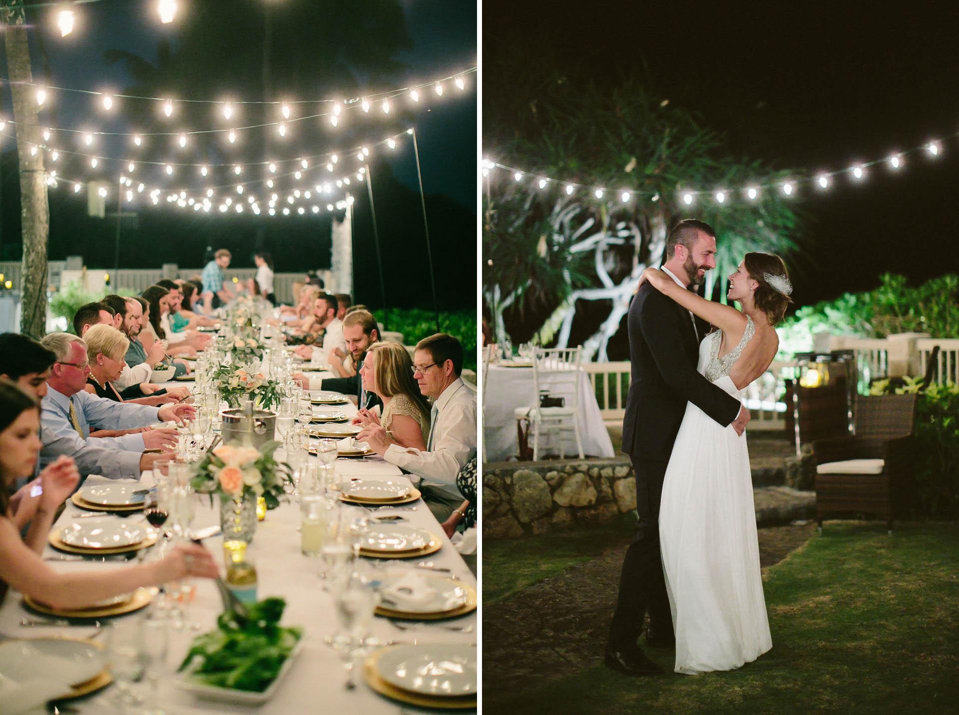 Kailua Beach House Wedding Reception