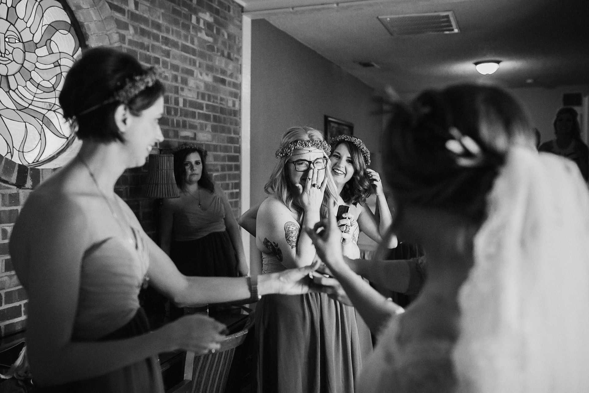 marfa bride getting dressed before wedding