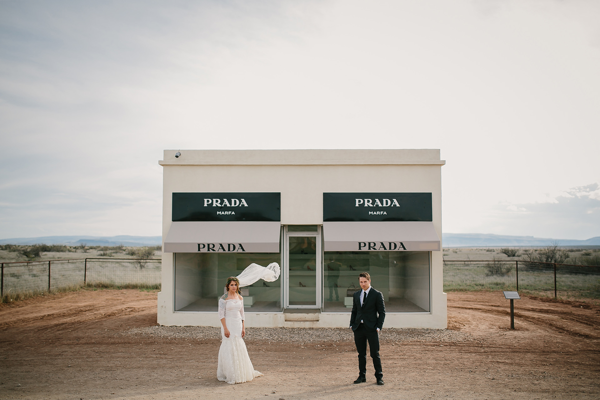 prada marfa wedding photos