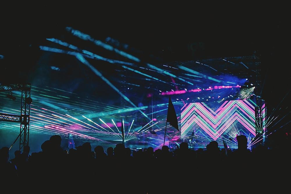 lazer show music festival