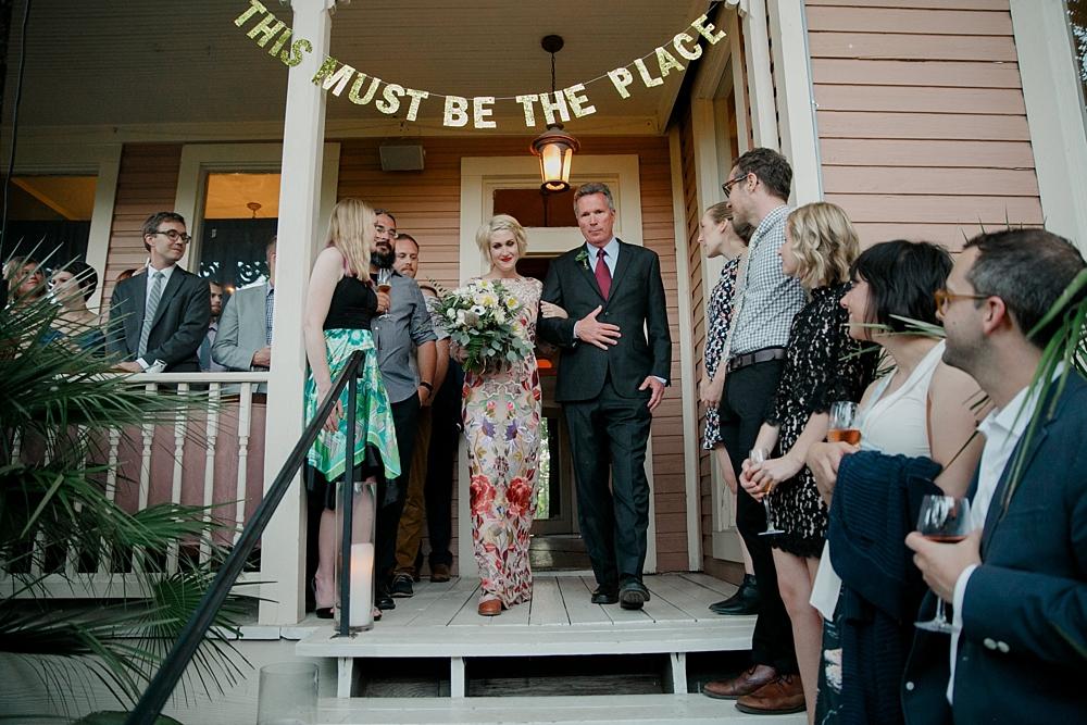 Justine's Secret House Wedding in austin