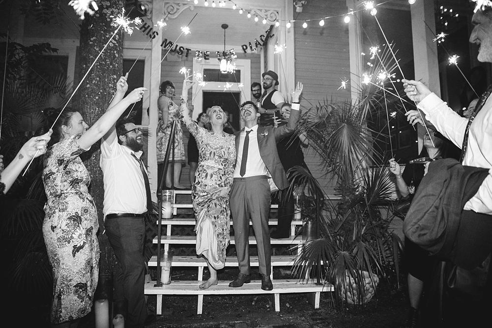 Justine's Secret House Wedding exit