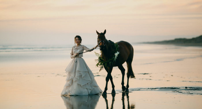 Muriwai Beach Wedding Portraits, New Zealand