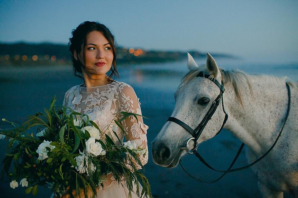 muriwai beach wedding portraits new zealand