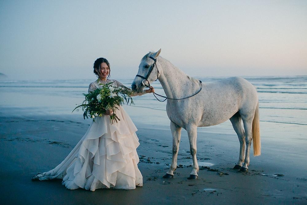 murawai beach wedding portraits new zealand