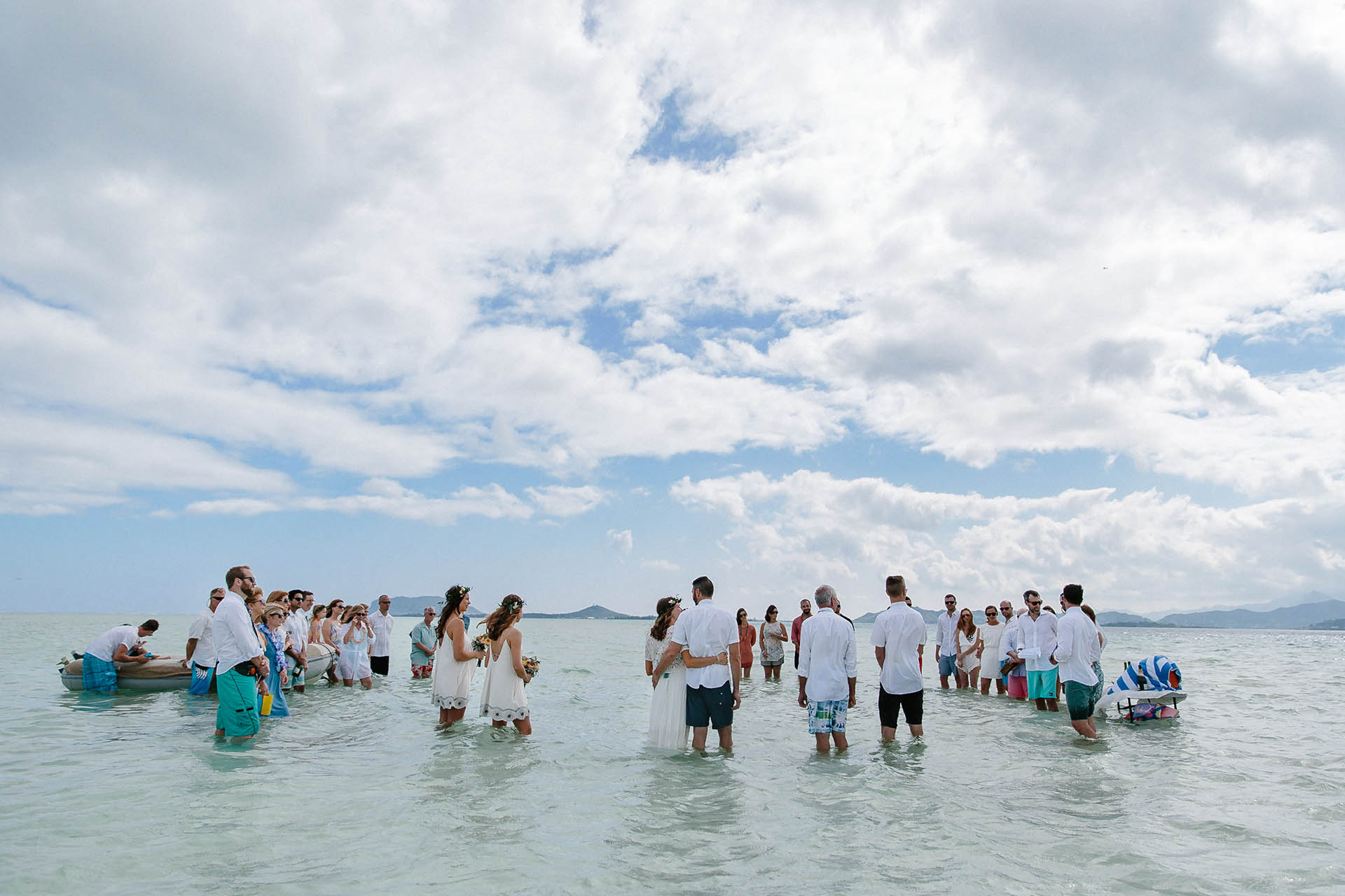 Joe Amp Katie S Sandbar Wedding In Hawaii