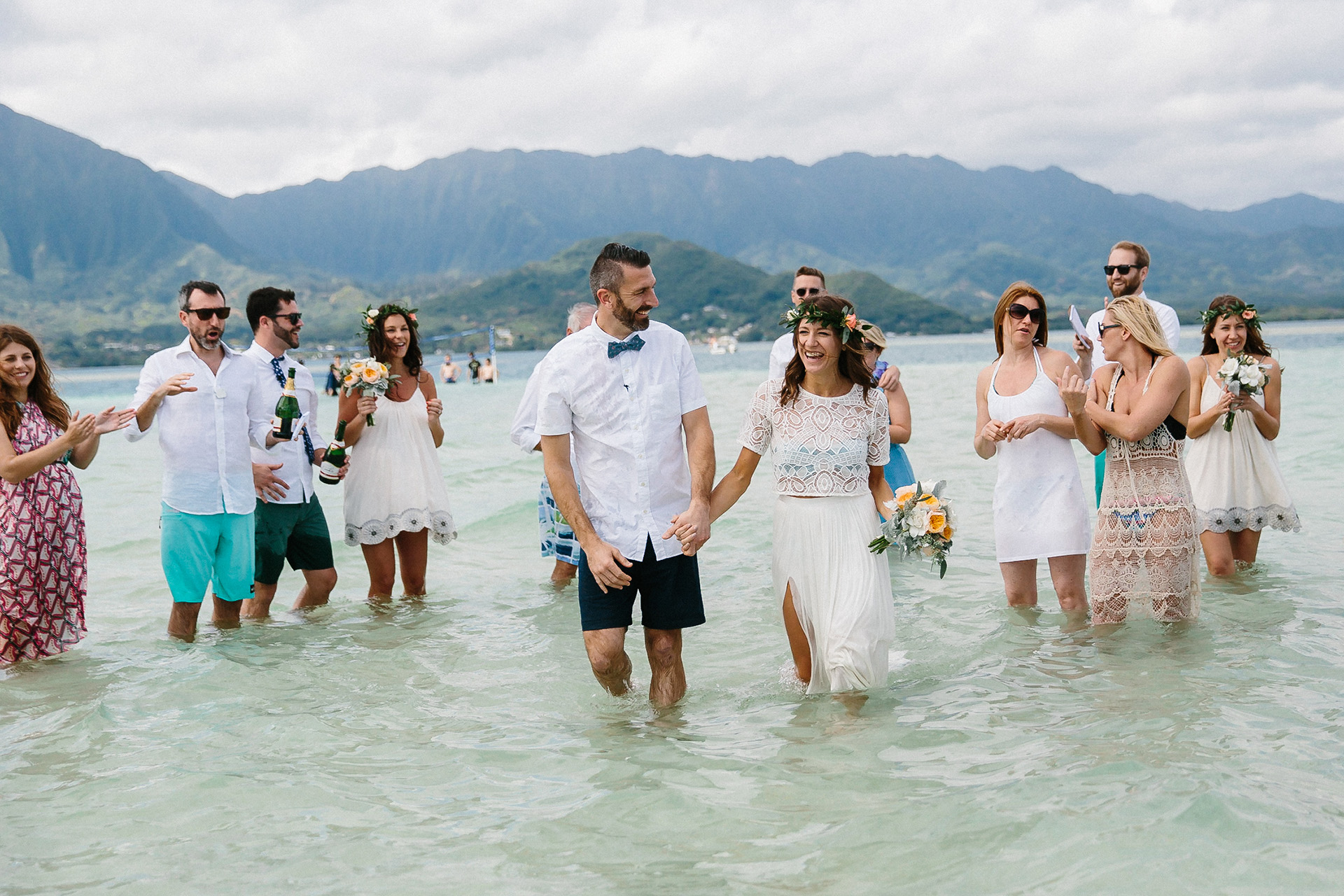 Wedding In Hawaii.Joe Katie S Sandbar Wedding In Hawaii